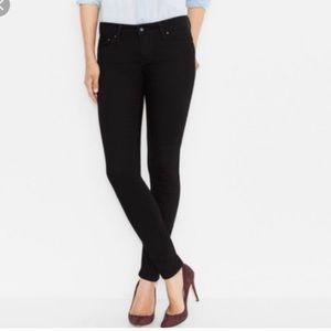 Levi's Demi Curve Modern Rise black skinny jeans
